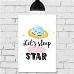 Placa Decorativa Infantil em MDF Planeta Soneca 20x30cm