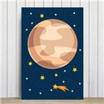 Placa Decorativa Infantil MDF Sistema Solar Jupiter 30x40cm