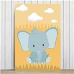 Placa Decorativa Infantil Safari Elefante MDF 30x40cm