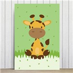 Placa Decorativa Infantil Safari Girafa MDF 30x40cm