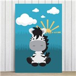 Placa Decorativa Infantil Safari Zebra MDF 30x40cm