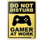 Placa Decorativa Joystick Gamer At Work