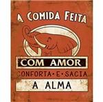 Placa Decorativa Litoarte DHPM-220 24x19cm Rótulo Extrato com Amor