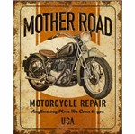 Placa Decorativa Litoarte Dhpm-212 24x19cm Mother Road Motorcycle