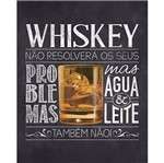 Placa Decorativa Litoarte Dhpm-311 19x19cm Whiskey