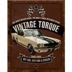 Placa Decorativa Litoarte DHPM-214 24x19cm Carro Vintage Torque