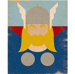 Placa Decorativa Litoarte Dhpm-196 24x19cm Thor