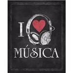 Placa Decorativa Litoarte DHPM-224 24x19cm I Love Música