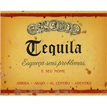 Placa Decorativa Litoarte DHPM-249 24x19cm Rótulo Tequila