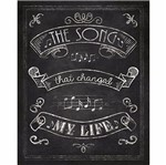 Placa Decorativa Litoarte Dhpm-225 24x19cm The Song That Changed