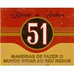 Placa Decorativa Litoarte Dhpm-251 24x19cm Rótulo Cachaça 51