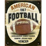 Placa Decorativa Litoarte Dhpm-362 24x19cm American Football