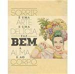 Placa Decorativa Litoarte DHPM-262 24x19cm Sorrir é uma Arte e uma Delícia