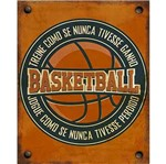 Placa Decorativa Litoarte Dhpm-361 24x19cm Basketball