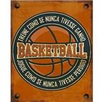 Placa Decorativa Litoarte Dhpm-361 24x19cm Basketball