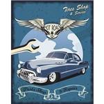 Placa Decorativa Litoarte Dhpm-368 24x19cm Carro Azul Hot Road
