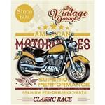 Placa Decorativa Litoarte Dhpm-371 24x19cm Moto Amarela