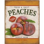 Placa Decorativa Litoarte Dhpml-003 24x19cm Fresh & Sweet Peaches