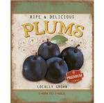 Placa Decorativa Litoarte Dhpml-004 24x19cm Ripe & Delicious Plums