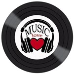 Placa Decorativa Litocart Lpdv-003 30x30cm Disco Vinil Music Love