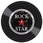 Placa Decorativa Litocart LPDV-002 30x30cm Disco Vinil Rock Star