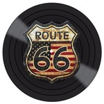 Placa Decorativa Litocart Lpdv-008 30x30cm Disco Vinil Route 66