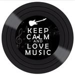 Placa Decorativa Litocart Lpdvp-001 20x20cm Disco Vinil Keep Calm And Love Music