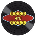 Placa Decorativa Litocart Lpdvp-006 20x20cm Disco Vinil Rock And Roll