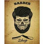 Placa Decorativa Litocart Lpmc-107 24,5x19,5cm Barber Shop