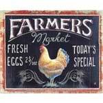 Placa Decorativa Litocart Lpmc-108 24,5x19,5cm Farmers Market
