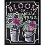Placa Decorativa Litocart LPMC-121 24,5x19,5cm Bloom Where You'Re Planted
