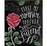 Placa Decorativa Litocart Lpmc-117 24,5x19,5cm First My Mother Forever My Friend