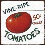 Placa Decorativa Litocart Lpqc-051 25x25cm Tomatoes
