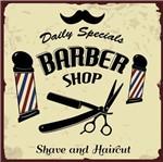 Placa Decorativa Litocart Lpqc-054 25x25cm Barber Shop