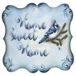 Placa Decorativa Litocart LPQC-066 25x25cm Home Sweet Home