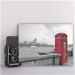 Placa Decorativa Londres MDF Cabine Telefone 20x30cm