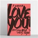 Placa Decorativa Love You 30x40cm