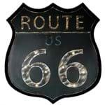Placa Decorativa Luminosa Rota 66