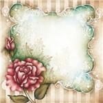 Placa Decorativa Madeira Pequena Flor com Moldura Lppc-11 - Litocart