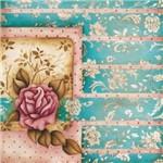 Placa Decorativa Madeira Pequena Vintage Rosa Lppc-10 - Litocart