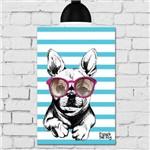 Placa Decorativa MDF 30x40 Cm Cachorro Fundo Azul
