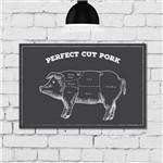 Placa Decorativa MDF Churrasco Cortes de Porco