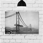 Placa Decorativa MDF Foto Construção Golden Gate