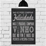 Placa Decorativa MDF Frase Giz Vinho