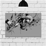 Placa Decorativa MDF Musico Sax