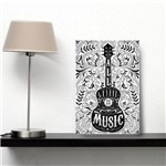 Placa Decorativa MDF All We Need Is Music