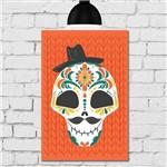 Placa Decorativa MDF Caveira Mexicana com Chapéu