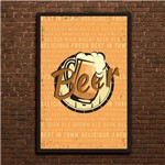 Placa Decorativa MDF Cerveja Best In Town