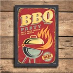 Placa Decorativa MDF Churrasco BBQ Party