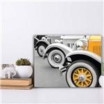 Placa Decorativa MDF Cidades Carro Antigo Amarelo 30x40cm